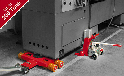 heavy machine moving rollers