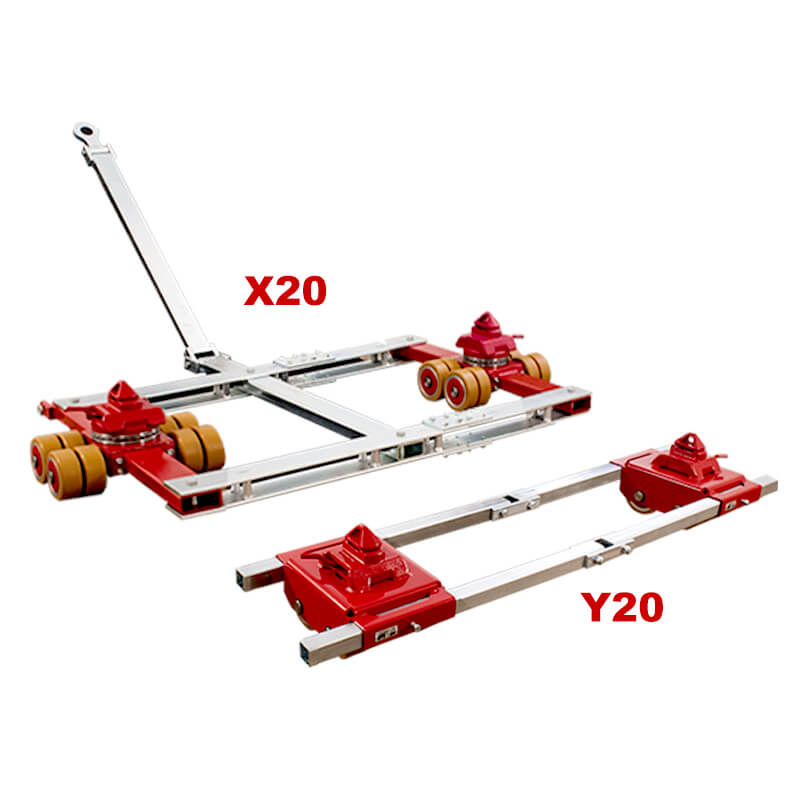 Use the outdoor steerable dolly model X16 and straight-line skate model Y16 by JUNG to move heavy shipping and freight containers